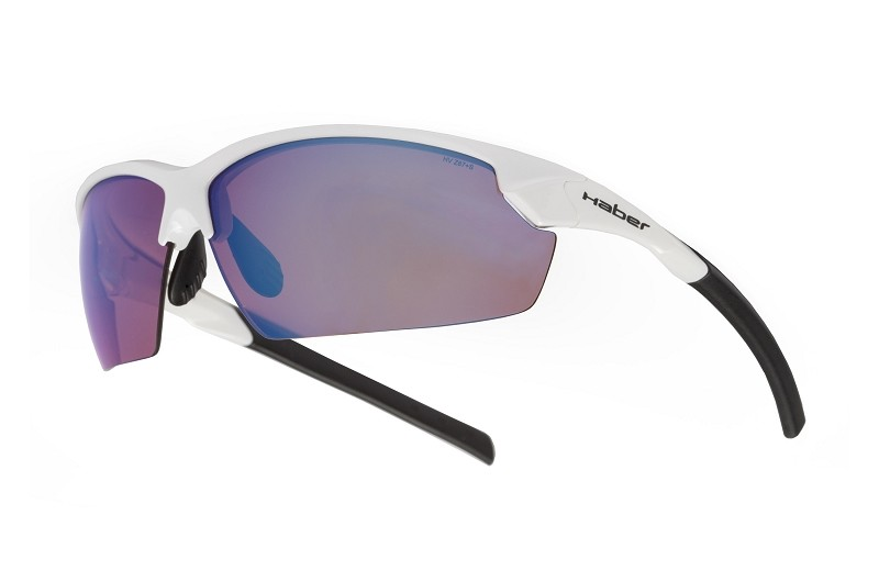 Blast Gloss White HaberRose Blue Mirror Polarized